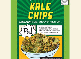 air-dried kale chips
