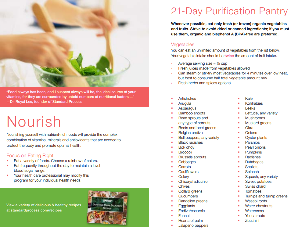 21 day cleanse pantry standard process