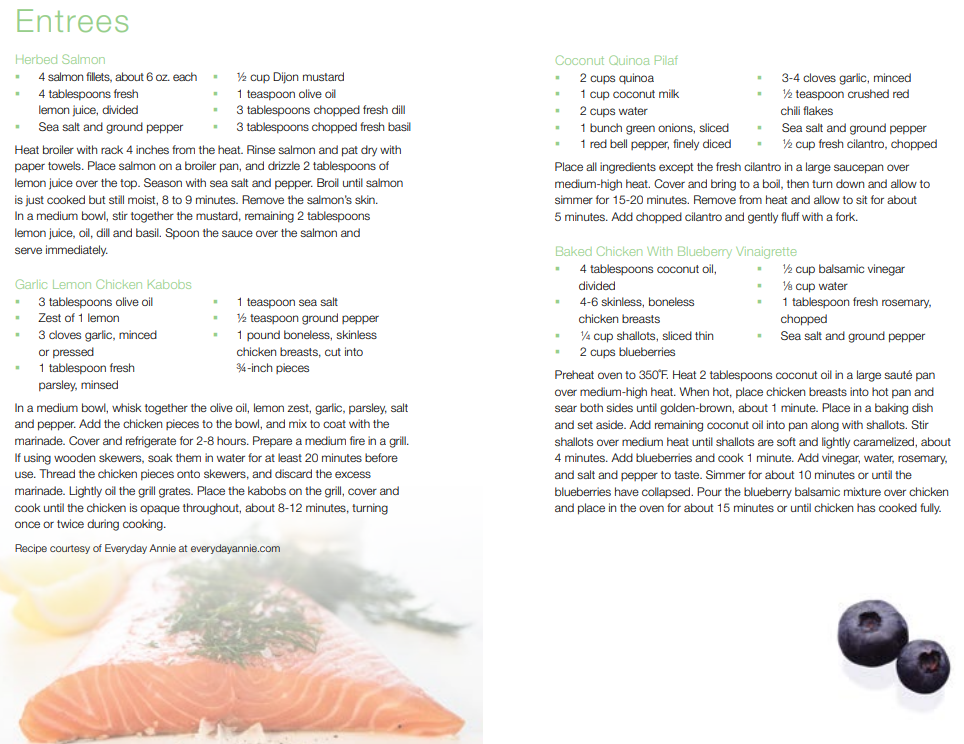 Standard Process 21-Day Cleanse Salmon Entree Recipes