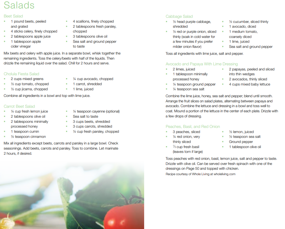 Standard Process 21-Day Cleanse Salad Recipes