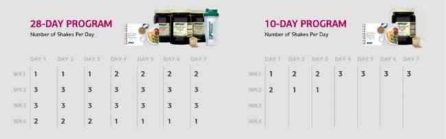 SP Detox Program Calendars